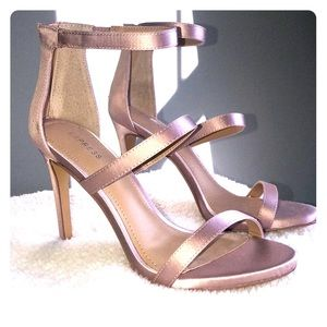Express blush strappy high-heel sandal.